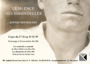 Expo Sofhie Mavroudis - artiste plasticienne - Le silence des hirondelles
